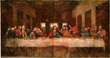 Образовательный портал ru Всё для учебы работы и отдыха  Леонардо да Винчи Тайная вечеря 1495 1497 Роспись маслом и темперой на стене трапезной монастыря Санта Мария делле Грацие Милан
