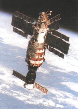 Орбитальная станция салют на орбите